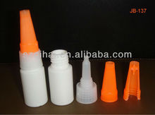 5ml/10ml empty plastic HDPE Cyanoacrylate adhesive flat super glue bottles with metal pin caps