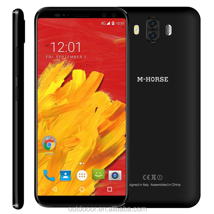 Low price China brand mobile phone M-HORSE Pure 3, 4GB+64GB Identification 4G 5.7 inch Android 7.1 Dual SIM smart phone