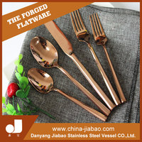Bulk Rose Gold stainless steel cutlery included dinner spoon fork knife and Tea dessert spoon