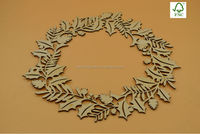 2016 laser cutting christmas decoration wood wreaths