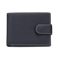 Men Wallet New Genuine Leather Brand Wallets Mix Color Credit Card holder Coin Purse Pockets