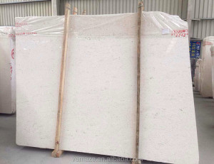 Building external wall decoration stone moon cream beige marble