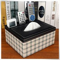 handmade faux leather fabric tissue box cover pattern