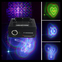 single head multi animation 3D Color mini laser light