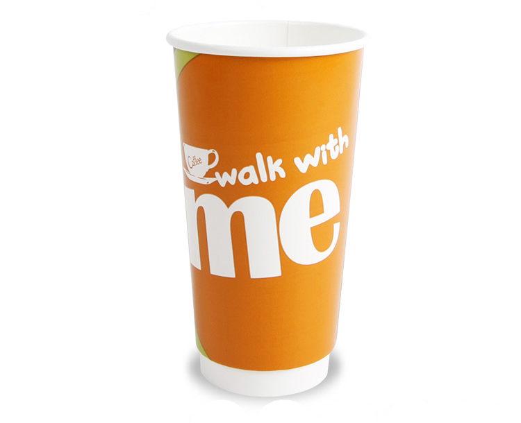 Biodegradable take away double wall coffee paper cup