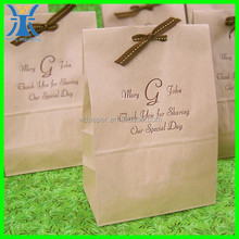 yiwu newly gift kraft brown package decorative paper lunch bags