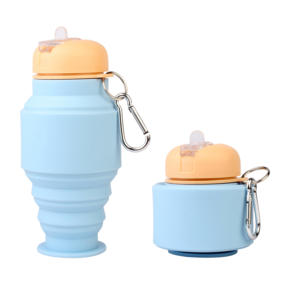 2017 New Innovative Silicon Sports Collapsible Drinking Bottle