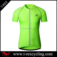 OEM tour de france brethable 100% polyester cycling top shirt jersey