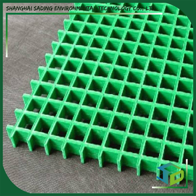 Molded Gritted 25mm Grey Fiber Glass Plastic Drain Cover Grating