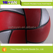 Hot selling 2016 resemble cow leather basketball PU laminated basketball