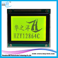 5V NT7107 Controller 3.07 Inch Outline LCD Modules Graphic 128x64