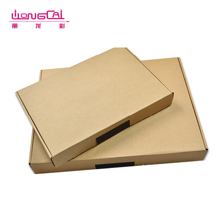 OEM custom printing logo brown folding apparel corrugated paper packaging box