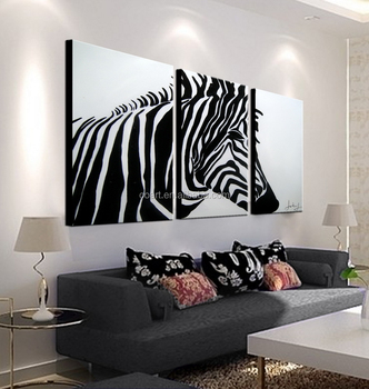 High Quality Zebra Oil Painting on Canvas for Home Wall Decor