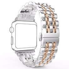 Loop Strap Clasp Milanese Wrist Metal Stainless Steel Band For Apple Watch