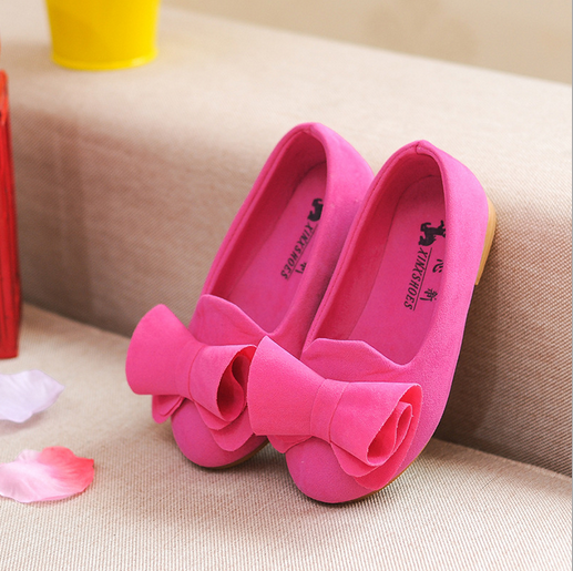 W52544Q 2016 spring new velvet bow baby shoe flower girls shoes girl princess shoes
