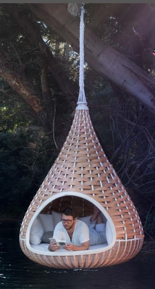Nestrest outdoor rattan hammock buy outdoor rattan for Hanging round hammock