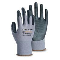 HANVO 15guage nylon/Spandex with foam nitrile embossing palm coating glove
