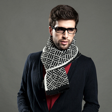 Chinese factories computer knitted reversible printed mens winter design shawl