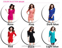 High Quality Plus Size Women Long Sleeve Slimming Embroidered Free Prom Dress
