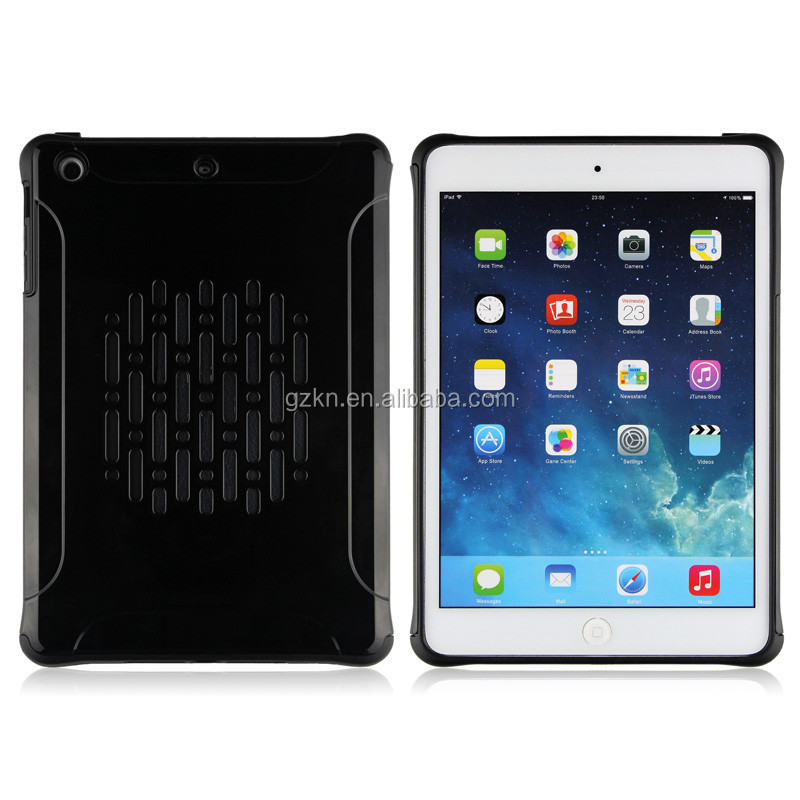 Shockproof slim armor hard Plastic and TPU hybrid case for iPad mini / iPad mini 2