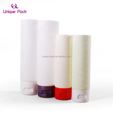 Cosmetic flexible soft tube with Metallic Screw Caps