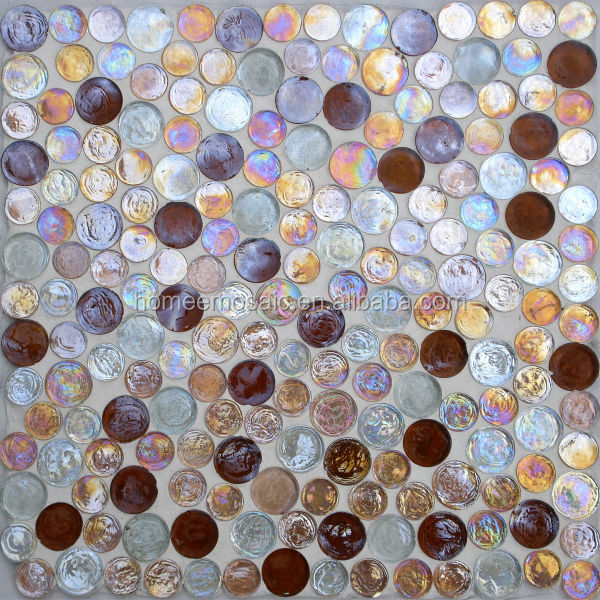 bubble round crystal glass mosaic tile