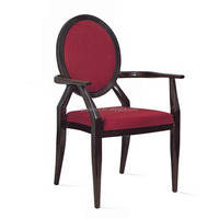 Western-style armrestl round back imitated wood hotel lounge chair