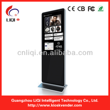 "42"" full HD Floor standing digital signal with brochure holder for advertising in showroom, car dealer shop,exhition hall"