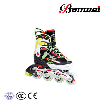 High level new design great quality flashing wheels BW-160 inline skates