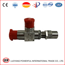 Adjustable high pressure spring type security valve