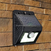 New Design 2.5w Energy Saving 8 leds Solar Motion Sensor Outdoor Wall Light