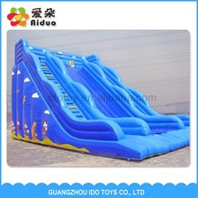 Attractive game commercial giant inflatable bouncer water slide for adult