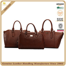S488-A2393 ostrich cow leather handmade customized design genuine leather handbags woman