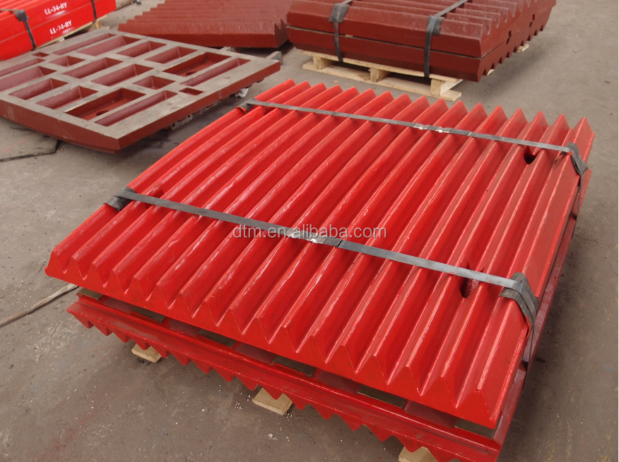 High manganese steel casting crusher wear parts jaw plate