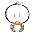 2017 chunky leather squash blossom necklace fashionable new design necklace tribal leather necklace chunky