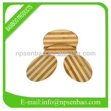 3 Pieces Oval Shape Bamboo Cutting Board