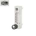 Flow meter transparent organic plastic tube rotameter with regulator for air