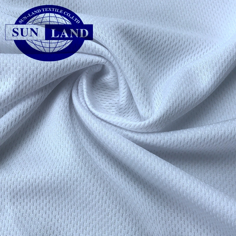 100% polyester coolmax dry fit birdeye mesh fabric for T-shirt