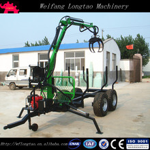 forestry machine Type log crane trailer/wood loader with hyrdraulic crane