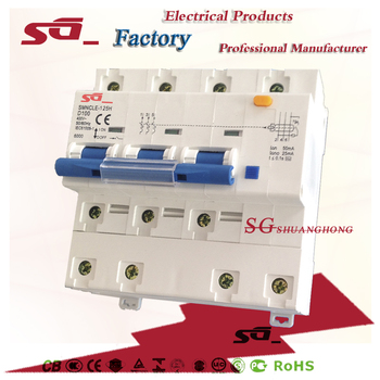 63A80A100A125A ELCB SGNCLE-100 Earth Leakage Circuit Breaker residual current circuit breaker
