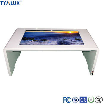 49inch free standing interactive kiosk touch table restaurant