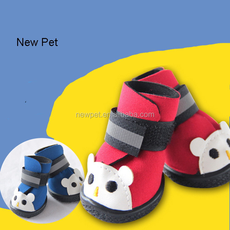 Custom wholesale crazy selling cartoon bear figure anti-skidding hot-sale pet shoes for dogs