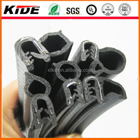 black UV resistance auto door rubber trim