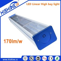 High lumens led high bay light 170lm/W LED Linear warehouse lights fitting 7 years warranty