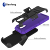 Colorful Silicone Hard Stand Belt Clip Holster Case for Moto E 2016 Kickstand Cover
