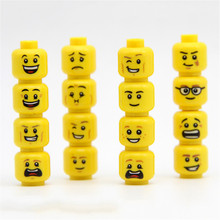 Hot Selling Cute Emoji Face Mood Expression Plastic Building Blocks Pendant Fidget Toy