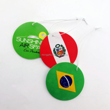 Fantastic concept nice thinked oem flag printing paper custom car air freshener