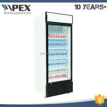 Chinese supplier Double layer glass door display chiller refrigerator vertical cooler with self-closing door