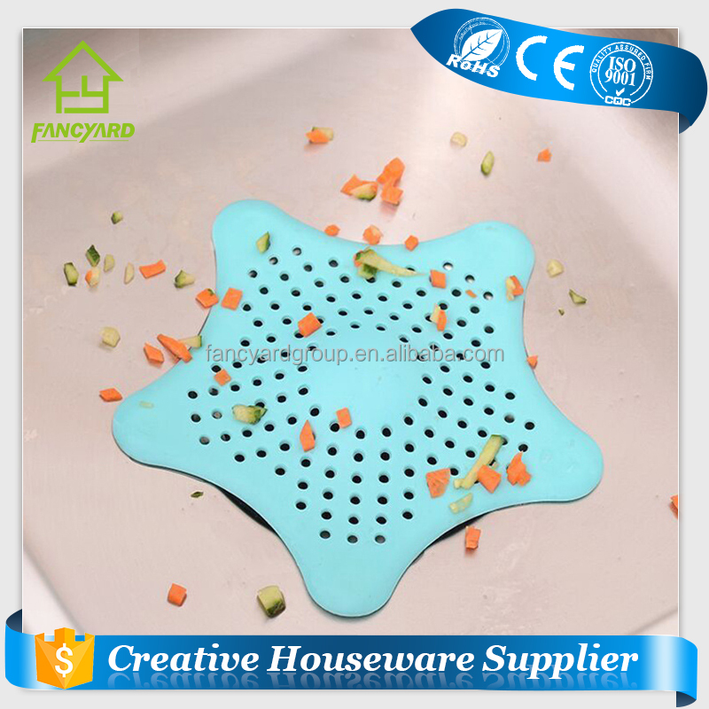 FY5144 Household Colorful TPR Material Drain Water Trap Cover / Water Strainer / Water Filter with Sucker