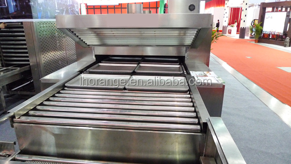 High quality &reliable electric &gas bread tunnel oven (gas, electronic)